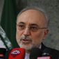 Analysts say Iranian Atomic Chief Ali Akbar Salehi's threat to enrich uranium will force Europe to pressure the U.S. not to abandon the nuclear deal. (Associated Press)
