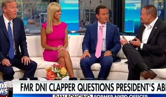 "Former Secret Service agent Dan Bongino appeared on ""Fox and Friends"" on Aug. 24, 2017, to discuss President Trump and his political opponents. (""Fox and Friends"" screenshot)"