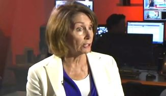 "House Minority Leader Nancy Pelosi told Pam Moore of San Francisco's KRON4 that an upcoming ""Patriot Prayer"" rally scheduled for Sept. 2 poses a threat to public safety. The National Park Service approved the group's request Aug. 23 on First Amendment grounds. (Image: KRON-4 screenshot) ** FILE **"
