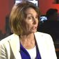 """House Minority Leader Nancy Pelosi told Pam Moore of San Francisco's KRON4 that an upcoming """"Patriot Prayer"""" rally scheduled for Sept. 2 poses a threat to public safety. The National Park Service approved the group's request Aug. 23 on First Amendment grounds. (Image: KRON-4 screenshot) ** FILE **"""