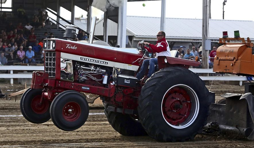 EXCHANGE: Love of tractor pulling starts at early age
