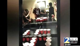 "A student who reportedly organized and took a photo of a ""Jews vs. Nazis"" beer pong game was expelled from an Atlanta preparatory school this week, officials said. (WSB-TV)"