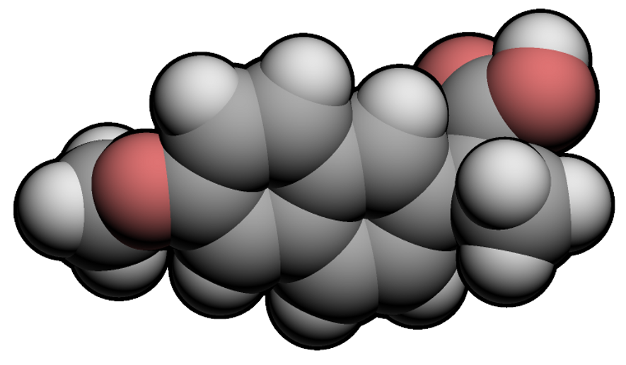 A chemical illustration of Naproxen, whose trade names include Aleve and Naprosyn, can aid in the relief of pain, fever, swelling and stiffness.
