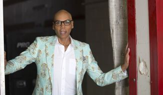 "In this Aug. 8, 2017 photo, RuPaul, host of ""RuPaul's Drag Race,"" poses for a portrait at Allied Studios in Simi Valley, Calif. Winner of the 2016 Emmy for best reality TV show host, RuPaul is up for the award again this year. (AP Photo/Joseph Longo)"