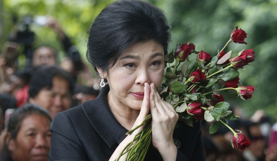 Facing a possible 10-year prison term, former Thai Prime Minister Yingluck Shinawatra fled the country ahead of a court verdict that her supporters said was politically motivated. (Associated Press/File)