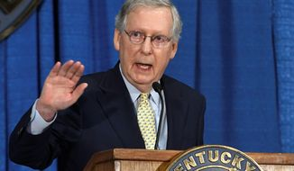 Senate Majority Leader Mitch McConnell has been promising to repeal Obamacare for seven years now. (Associated Press)