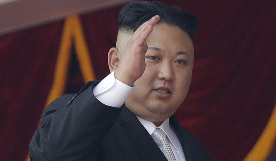 In this April 15, 2017, file photo, North Korean leader Kim Jong Un waves during a military parade in Pyongyang, North Korea to celebrate the 105th birth anniversary of Kim Il Sung, the country's late founder and grandfather of current ruler Kim Jong Un. North Korea fired a ballistic missile from its capital Pyongyang that flew over Japan before plunging into the northern Pacific Ocean, officials said Tuesday, Aug. 29, 2017, an especially aggressive test-flight that will rattle an already anxious region. (AP Photo/Wong Maye-E, File)