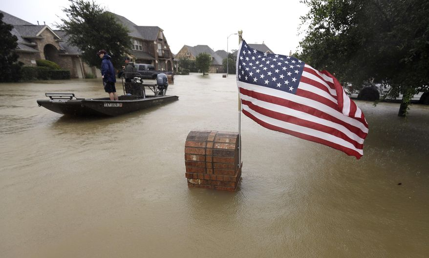 President Trump said the cleanup from Harvey will be expensive, but he expects no difficulties from Congress. Democrats and Republicans were eager to promise full cooperation on spending. (Associated Press)