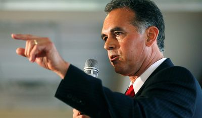 In this April 26, 2016, file photo, Danny Tarkanian participates in a Republican debate for Nevada's 3rd Congressional District in Henderson, Nev. (AP Photo/John Locher, File)