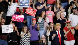 While President Trump rallies supporters across the country, he campaigns for candidates he favors. (Associated Press)