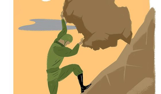 The Uphill Fight for Afghanistan Illustration by Linas Garsys/The Washington Times
