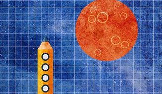 The Plan to Get to Mars Illustration by Greg Groesch/The Washington Times