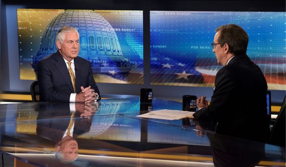 "Secretary of State Rex W. Tillerson stunned viewers by saying, ""The president speaks for himself, Chris."" (ASSOCIATED PRESS)"