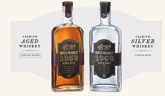 Screen capture from UncleNearest.com, the website for the special label of whiskey from Jack Daniel's, honoring Nathan 'Nearest' Green, a slave who taught Jack Daniel the art of distilling whiskey.
