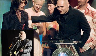 The Smashing Pumpkins an alternative rock band from Chicago, Illinois, formed in 1988. Formed by frontman Billy Corgan (lead vocals, guitar) and James Iha (guitar), the band included D'arcy Wretzky (bass guitar) and Jimmy Chamberlin (drums) in its original incarnation. It has undergone many line-up changes over the course of its existence, with the current lineup being Corgan and rhythm guitarist Jeff Schroeder. The Smashing Pumpkins broke into the musical mainstream with their second album, 1993's Siamese Dream. The group built its audience with extensive touring and their 1995 follow-up, the double album Mellon Collie and the Infinite Sadness, which debuted at number one on the Billboard 200 album chart. With 20 million albums sold in the United States alone, The Smashing Pumpkins were one of the most commercially successful and critically acclaimed bands of the 1990s. However, internal fighting, drug use, and diminishing record sales led to a 2000 break-up. In 2006, Corgan and Chamberlin reconvened to record a new Smashing Pumpkins album, Zeitgeist. After touring throughout 2007 and 2008 with a lineup including new guitarist Jeff Schroeder, Chamberlin left the band in early 2009. Later that year, Corgan began a new recording series with a rotating lineup of musicians entitled Teargarden by Kaleidyscope, which encompassed the release of stand-alone singles, compilation EP releases, and two full albums that also fell under the project's scopeOceania in 2012 and Monuments to an Elegy in 2014. As of 2016, Corgan and Schroeder remained the band's only official core members, though Corgan began working with prior members gradually as well, including Chamberlin as a touring drummer since 2015 and Iha in some guest appearances in concerts in 2016. By mid-2016, Corgan stated that they were considering reforming the band's original lineup, though no concrete plans have been revealed.