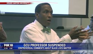 "Grand Canyon University professor Toby Jennings has been suspended for the rest of the fall semester after he was recorded saying some Black Lives Matter members deserved to be ""hung."" (FOX 10)"