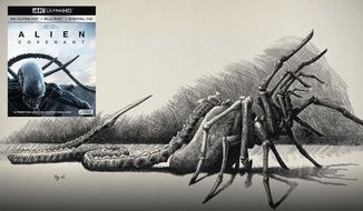 """The 4K Ultra HD and Blu-ray package for """"Alien: Covenant"""" offers a collection of illustrations by the android David including the facehugger. (Courtesy of 20th Century Fox Home Entertainment)"""