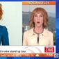 "Comedian Kathy Griffin says she's ""no longer sorry"" for the President Trump beheading stunt that jeopardized her career. (Sunrise Live) ** FILE **"
