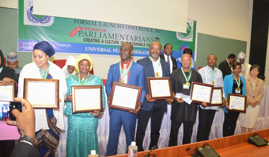The International Association of Parliamentarians for Peace launched in Nigeria this summer with 227 participants. Photo courtesy of Universal Peace Federation International.
