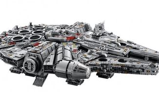 "Lego will release The Ultimate Collector's Series Millennium Falcon on Oct. 1, 2017. The ""Lego Star Wars"" toy will be the largest set ever for the company. (Image: Lego)"