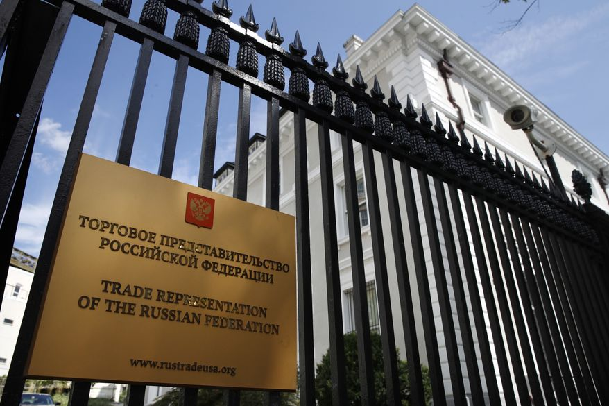 On Thursday, the State Department ordered the closure of the Russian Consulate in San Francisco and the reduction of services at other diplomatic sites in an escalating tit-for-tat between the two powers. (Associated Press/File)
