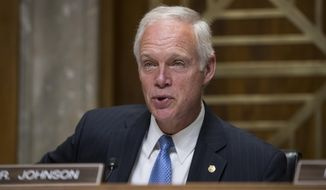 Sen. Ron Johnson, Wisconsin Republican, chairs a Senate Foreign Relations subcommittee hearing on Steve King, a prominent GOP insider from Wisconsin, nominated to be ambassador to the Czech Republic, on Capitol Hill in Washington on Aug. 1, 2017. (Associated Press) **FILE**