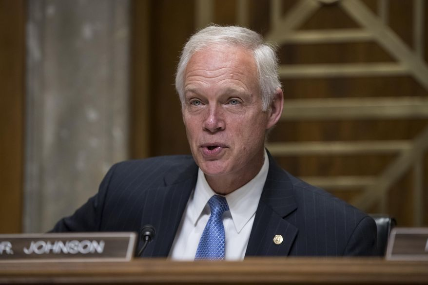 Sen. Ron Johnson, Wisconsin Republican, chairs a Senate Foreign Relations subcommittee hearing on Steve King, a prominent GOP insider from Wisconsin, nominated to be ambassador to the Czech Republic, on Capitol Hill in Washington on Aug. 1, 2017. (Associated Press)