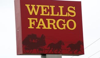 This April 11, 2017, photo shows a Wells Fargo bank in northeast Jackson, Miss. Wells Fargo said Thursday, Aug. 31, 2017, that 3.5 million customers were impacted by its fake accounts scandal, a dramatic increase from the 2.1 million accounts it originally estimated. (AP Photo/Rogelio V. Solis, File)