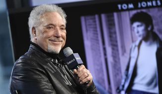 "In this Dec. 16, 2015, file photo, singer Tom Jones participates in AOL's BUILD Speaker Series to discuss his new album, ""Long Lost Suitcase"", at AOL Studios in New York. Photo by Evan Agostini/Invision/AP)"
