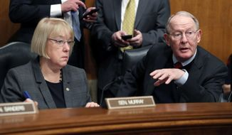 "Senate Health Education, Labor and Pensions Committee Chairman Lamar Alexander, Tennessee Republican, struck the agreement with Sen. Patty Murray, Washington Democrat, to fund pivotal ""cost-sharing"" payments for two years. (Associated Press/File)"