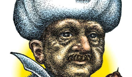 Illustration on Tayyip Erdogan's incremental Islamicization of Turkey by Kevin Kreneck/Tribune Content Agency