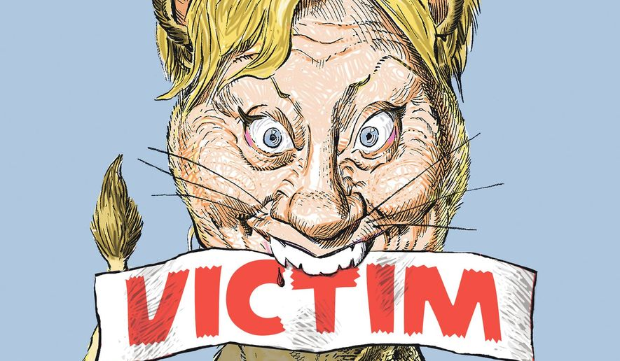 Illustration of Hillary Clinton by Alexander Hunter/The Washington Times