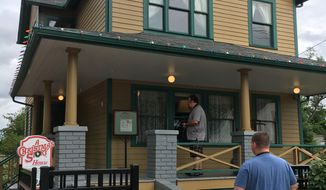 """The house from """"A Christmas Story"""" is now an interactive museum in Cleveland.  (Eric Althoff / The Washington Times)"""