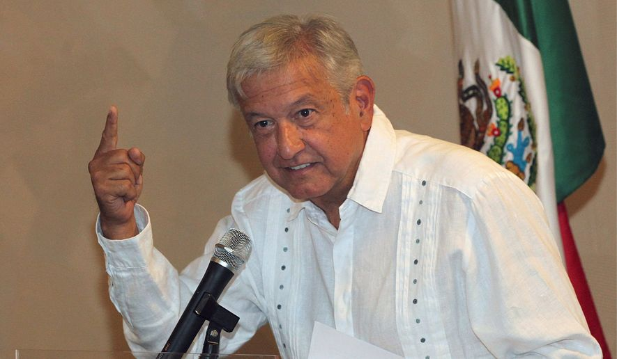 """We need to establish a relationship of respect, expressing desires for cooperation and setting aside propaganda,"" said Andres Manuel Lopez Obrador, the Mexican presidential front-runner who casts himself as the ultimate political outsider. (Associated Press/File)"