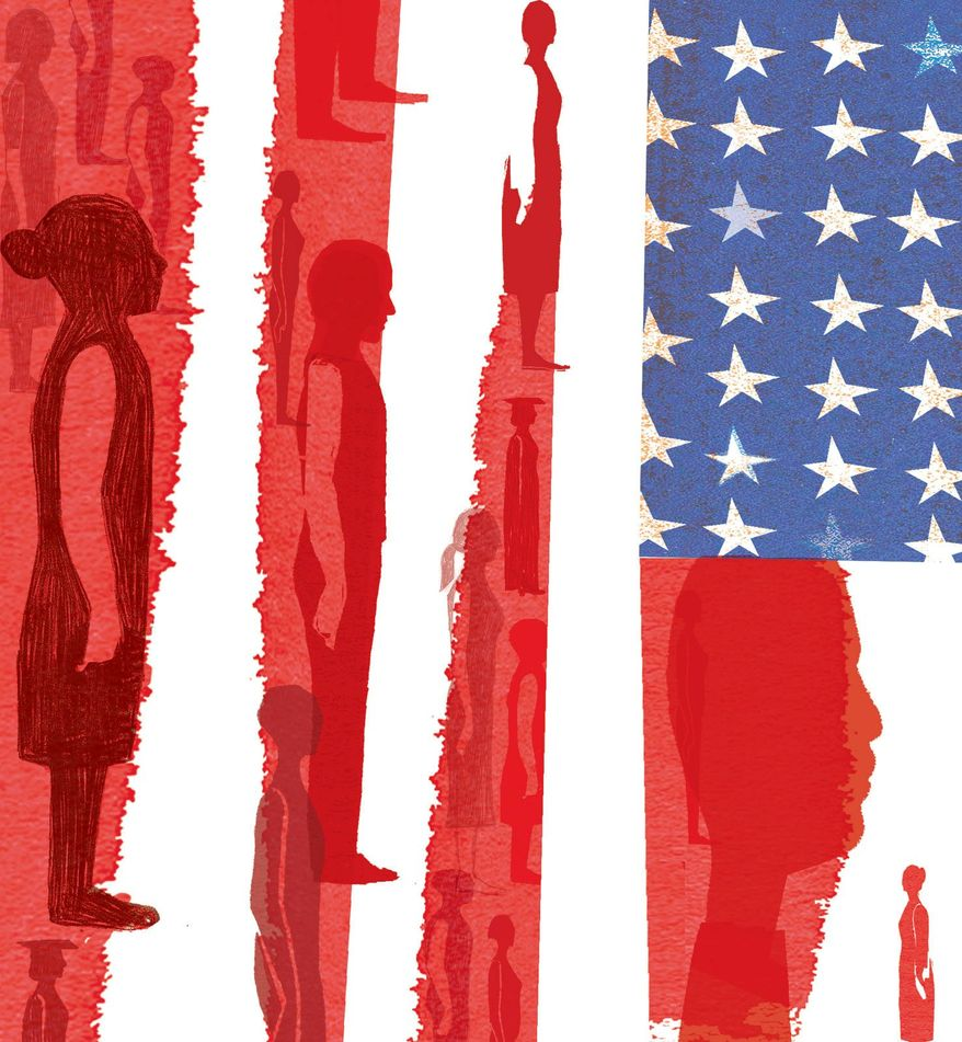 Illustration on the challenges of immigration policy by Donna Grethen/Tribune Content Agency