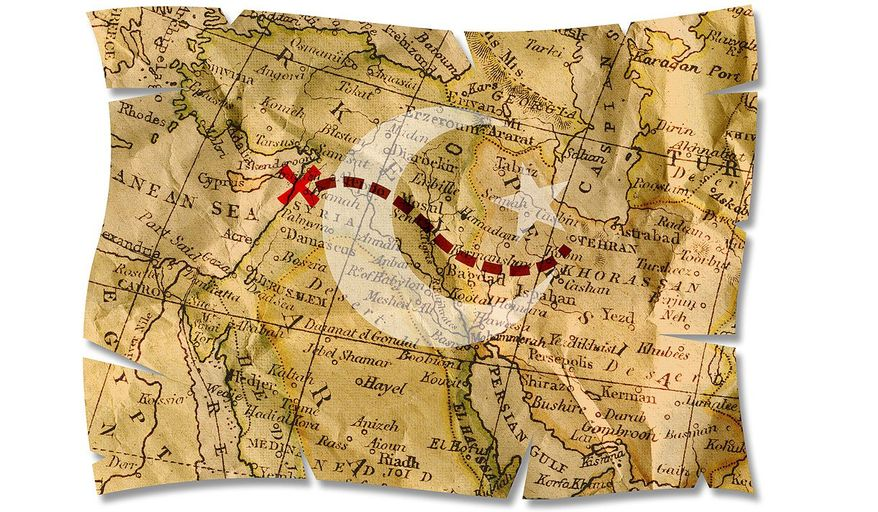 Iran's Road to Syria Illustration by Greg Groesch/The Washington Times