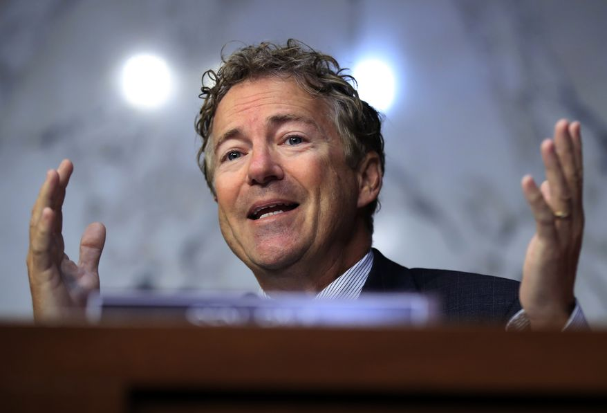 Sen. Rand Paul, Kentucky Republican, said he is pro-life but didn't promise voters to keep 90 percent of Obamacare's taxes and regulations in place to reshuffle dollars among the states. (Associated Press/File)