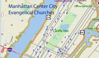 "Image used by permission Tony Carnes, editor of the website ""A Journey Through NYC Religions"" -- (http://www.nycreligion.info/making-postsecular-city-manhattan-evangelicals-part-1/ )"