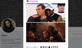"Baltimore Ravens legend Ray Lewis told Showtime's ""Inside the NFL"" on Sept. 5, 2017, that former 49ers quarterback Colin Kaepernick lost a job because of a ""racist"" tweet by his girlfriend. Nessa Diab used her Twitter feed in August to liken Mr. Lewis and Ravens owner Steve Bisciotti to a slave and his master from the 2012 movie ""Django Unchained."""