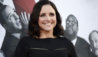 "FILE - In this May 25, 2017, file photo, Julia Louis-Dreyfus, a cast member in the HBO series ""Veep,"" poses at an Emmy For Your Consideration event for the show at the Television Academy in Los Angeles. HBO says its much-honored political comedy ""Veep"" is coming to an end. The cable channel said Wednesday, Sept. 6, that ""Veep"" will air its seventh and final season in 2018. (Photo by Chris Pizzello/Invision/AP, File)"