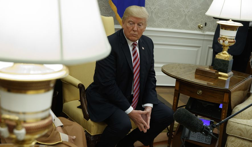 As President Trump moved toward Democrats, he saw the first signs of fraying support from his own Republican troops on Capitol Hill. (Associated Press/File)