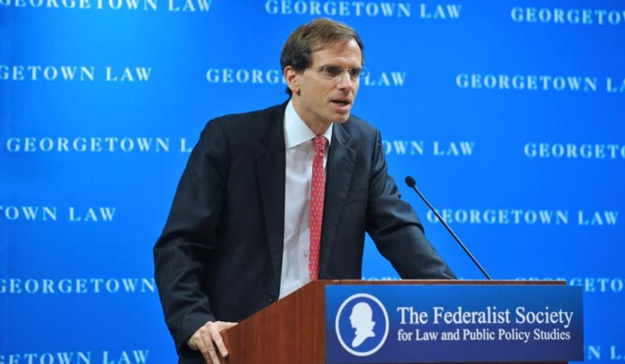 Gregory Katsas, depicted here in a 2012 photo from a Federalist Society event hosted at Georgetown Law, was nominated by President Donald Trump to an opening on the D.C. Circuit Court of Appeals on Sept. 7, 2017. (Georgetown Law) [https://www.law.georgetown.edu/academics/centers-institutes/constitution/events/archive/index.cfm]