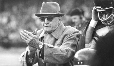 7. George Halas (1920-1967) was the founder and owner of the Chicago Bears. He coached his team to six NFL titles in five different decades with the first coming in 1921 and last in 1963. 'Papa Bear' also ranks second in all-time victories with 324. He was one of the co-founders of the National Football League in 1920, and in 1963 became one of the first 17 inductees into the Pro Football Hall of Fame