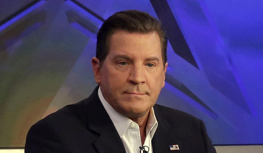 """In this July 22, 2015, file photo, co-host Eric Bolling appears on 'The Five' television program, on the Fox News Channel, in New York. Mr. Bolling now hosts a program distributed by the Sinclair Broadcasting Group titled """"America This Week."""" (AP Photo/Richard Drew, File)  **FILE**"""
