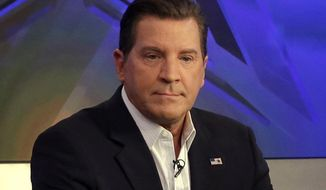"FILE - In this July 22, 2015, file photo, co-host Eric Bolling appears on ""The Five"" television program, on the Fox News Channel, in New York. Bolling has left the network, which is canceling his news program, ""The Specialists."" The network suspended Bolling in August as it investigated a report of allegations that he sent lewd photos to co-workers. (AP Photo/Richard Drew, File)"