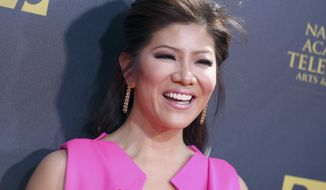 "FILE- In this April 26, 2015, file photo, Julie Chen arrives at the 42nd annual Daytime Emmy Awards at Warner Bros. Studios in Burbank, Calif. CBS announced Sept. 8, 2017, that Chen will host a celebrity edition of ""Big Brother"" that will air this winter.(Photo by Richard Shotwell/Invision/AP, File)"