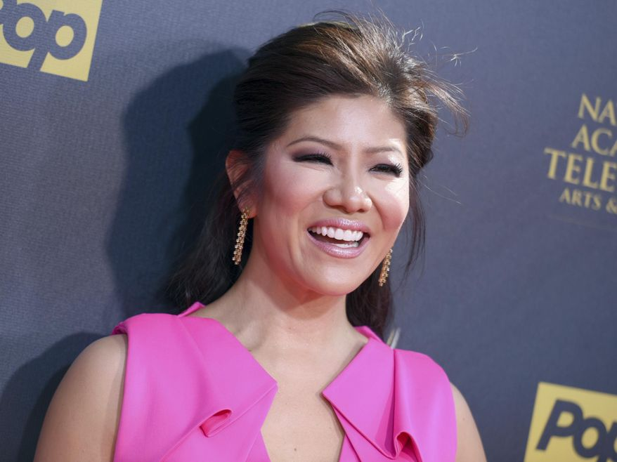 """FILE- In this April 26, 2015, file photo, Julie Chen arrives at the 42nd annual Daytime Emmy Awards at Warner Bros. Studios in Burbank, Calif. CBS announced Sept. 8, 2017, that Chen will host a celebrity edition of """"Big Brother"""" that will air this winter.(Photo by Richard Shotwell/Invision/AP, File)"""
