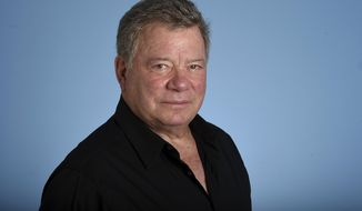 """In this May 22, 2017 photo, William Shatner poses for a portrait on Monday, May 22, 2017 in Los Angeles. As """"Star Trek II: The Wrath of Khan"""" marks its 35th anniversary with a return to theaters for special screenings next week, star Shatner is celebrating more than his long history as Captain Kirk. At 86, the stalwart entertainer is busier than ever. (Photo by Jordan Strauss/Invision/AP)"""