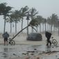 Streets of Fort Lauderdale and other Florida cities were inundated after Hurricane Irma passed through on Sunday. (Associated Press)