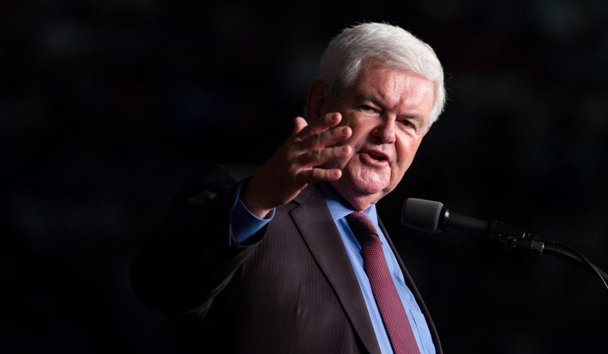 Former Speaker of the House Newt Gingrich. (Associated Press) ** FILE **